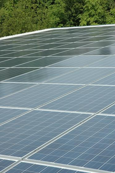 solar panels on the roof of Double A Kebab
